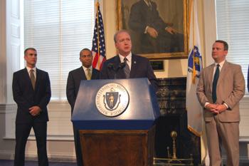 Thomas Gusha, Governor Patrick, MAR President Gary D. Rog